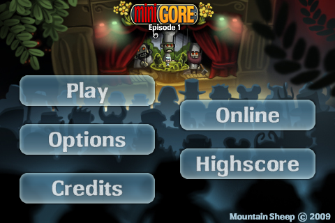 Minigore Title Screen
