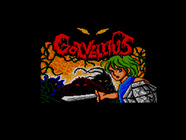 Golvellius Title Screen