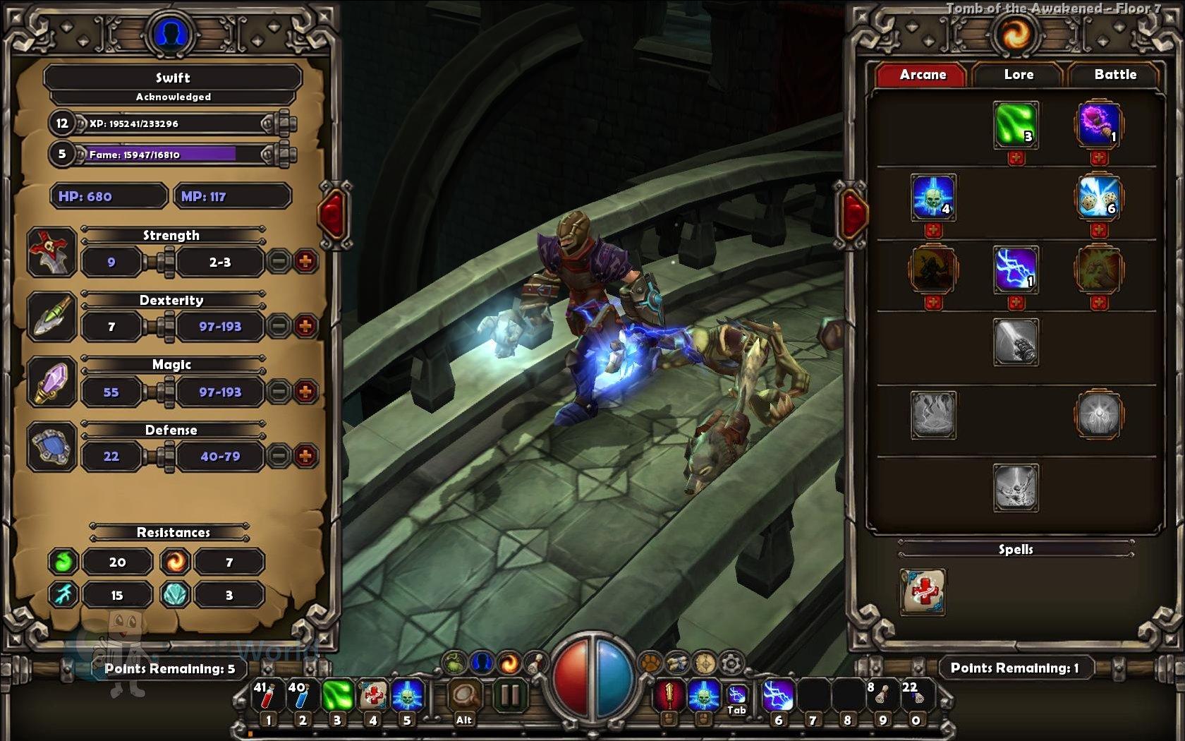 Torchlight Stats and Skills