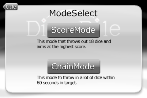 Dice Pile mode select