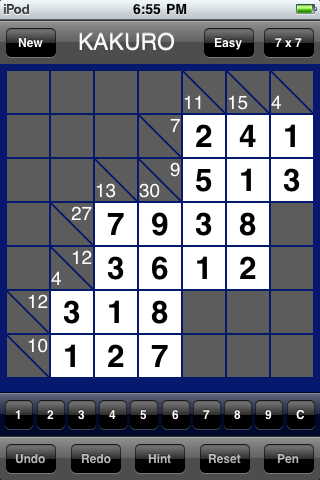 Kakuro Mania Completed Puzzle