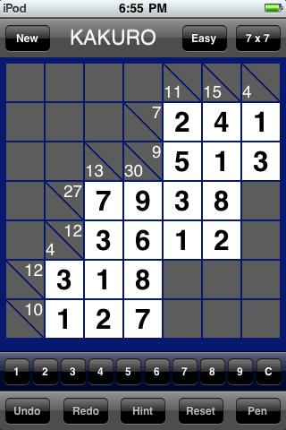Kakuro Mania Completed Puzzle