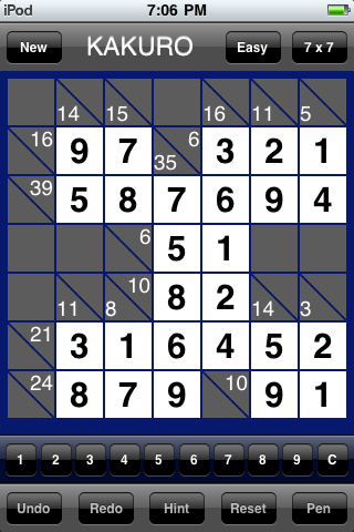 Kakuro Mania Completed Puzzle 2