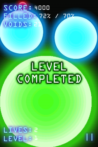 Glowing Void Level Completed