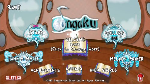Ongaku Main Screen