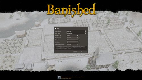 Banished New Game