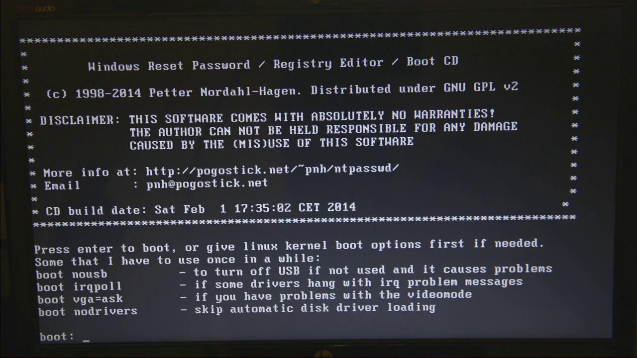 how to get password reset disk
