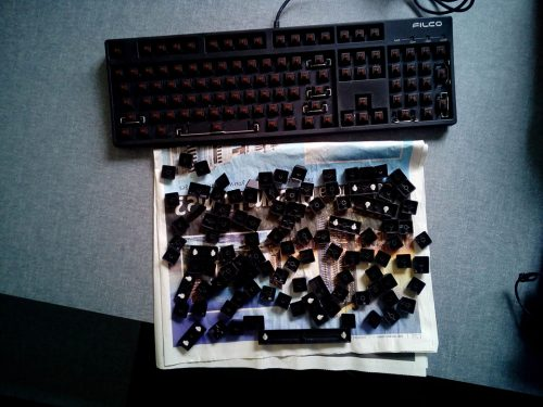Keyboard drying keys