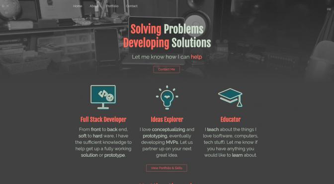 Revamping My Portfolio Site